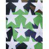 Camouflage and Stars Long Sleeve T-shirt - GREEN