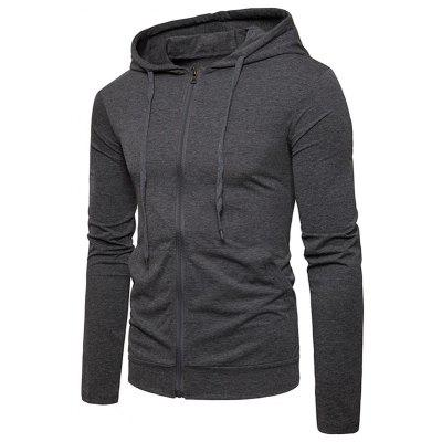 Kangaroo Pocket Zip Up Drawstring HoodieMens Hoodies &amp; Sweatshirts<br>Kangaroo Pocket Zip Up Drawstring Hoodie<br><br>Closure Type: Zipper<br>Clothes Type: Hoodie<br>Material: Cotton, Polyester<br>Occasion: Sports, Going Out, Daily Use, Casual<br>Package Contents: 1 x Hoodie<br>Patterns: Solid<br>Shirt Length: Regular<br>Sleeve Length: Full<br>Style: Casual<br>Thickness: Thin<br>Weight: 0.4100kg