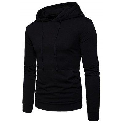 Kangaroo Pocket Drawstring Pullover HoodieMens Hoodies &amp; Sweatshirts<br>Kangaroo Pocket Drawstring Pullover Hoodie<br><br>Clothes Type: Hoodie<br>Material: Cotton, Polyester, Spandex<br>Occasion: Sports, Going Out, Daily Use, Casual<br>Package Contents: 1 x Hoodie<br>Patterns: Solid<br>Shirt Length: Regular<br>Sleeve Length: Full<br>Style: Casual<br>Thickness: Thin<br>Weight: 0.4100kg