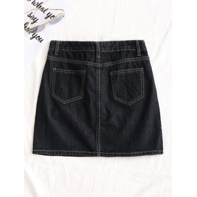 Floral Embroidered A Line Jean SkirtSkirts<br>Floral Embroidered A Line Jean Skirt<br><br>Embellishment: Embroidery<br>Length: Mini<br>Material: Cotton, Jeans, Polyester<br>Package Contents: 1 x Skirt<br>Pattern Type: Floral<br>Silhouette: A-Line<br>Weight: 0.3500kg<br>With Belt: No