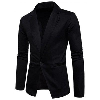Lapel Collar One Button Cotton Blend BlazerMens Blazers<br>Lapel Collar One Button Cotton Blend Blazer<br><br>Closure Type: Single Breasted<br>Material: Cotton Blends<br>Package Contents: 1 x Blazer<br>Shirt Length: Regular<br>Sleeve Length: Long Sleeves<br>Weight: 0.4800kg