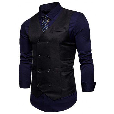 V Neck Double Breasted WaistcoatWaistcoats<br>V Neck Double Breasted Waistcoat<br><br>Closure Type: Double Breasted<br>Collar: V-Neck<br>Material: Polyester<br>Package Contents: 1 x Waistcoat<br>Shirt Length: Regular<br>Style: Casual<br>Thickness: Thin<br>Weight: 0.2700kg