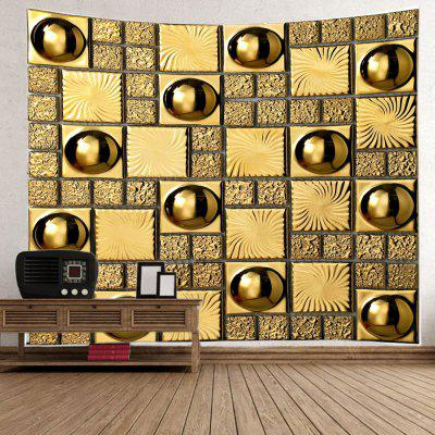 Gloden Wall with Ball Print Wall Hanging TapestryBlanksts&amp; Throws<br>Gloden Wall with Ball Print Wall Hanging Tapestry<br><br>Feature: Washable<br>Material: Polyester<br>Package Contents: 1 x Tapestry<br>Shape/Pattern: Ball,Plaid<br>Style: Fashion<br>Weight: 0.3000kg