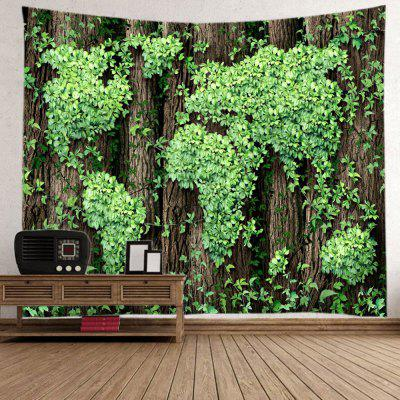Leaves World Map Print Tapestry Wall Hanging DecorationBlanksts&amp; Throws<br>Leaves World Map Print Tapestry Wall Hanging Decoration<br><br>Feature: Washable<br>Material: Polyester<br>Package Contents: 1 x Tapestry<br>Shape/Pattern: Forest<br>Style: Natural<br>Weight: 0.4000kg