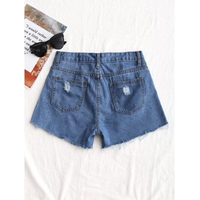 Floral Embroidered Distressed Denim ShortsShorts<br>Floral Embroidered Distressed Denim Shorts<br><br>Closure Type: Zipper Fly<br>Fit Type: Regular<br>Front Style: Flat<br>Material: Cotton, Jeans, Polyester<br>Package Contents: 1 x Shorts<br>Pattern Type: Floral<br>Style: Fashion<br>Waist Type: Mid<br>Weight: 0.3050kg<br>With Belt: No