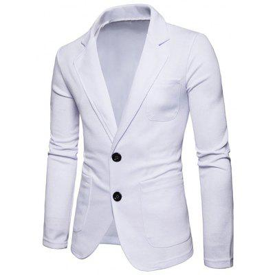 Lapel Collar Single Breasted Cotton Blend BlazerMens Blazers<br>Lapel Collar Single Breasted Cotton Blend Blazer<br><br>Closure Type: Single Breasted<br>Material: Cotton, Polyester<br>Package Contents: 1 x Blazer<br>Shirt Length: Regular<br>Sleeve Length: Long Sleeves<br>Weight: 0.4700kg