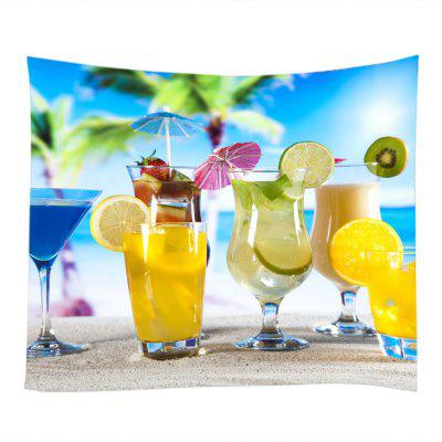 Fruit Drinks Sunshie Beach Holiday Printed Wall Decoration Tapestry