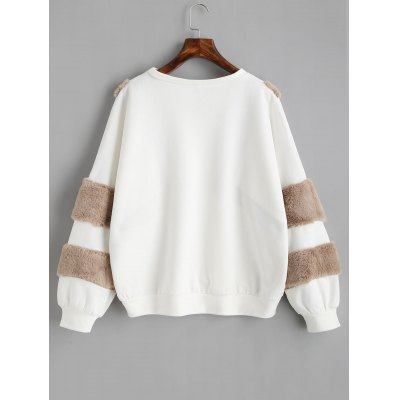 Contrast Textured Oversized SweatshirtSweatshirts &amp; Hoodies<br>Contrast Textured Oversized Sweatshirt<br><br>Clothing Style: Sweatshirt<br>Material: Cotton, Polyester<br>Package Contents: 1 x Sweatshirt<br>Pattern Style: Others<br>Shirt Length: Regular<br>Sleeve Length: Full<br>Weight: 0.4900kg