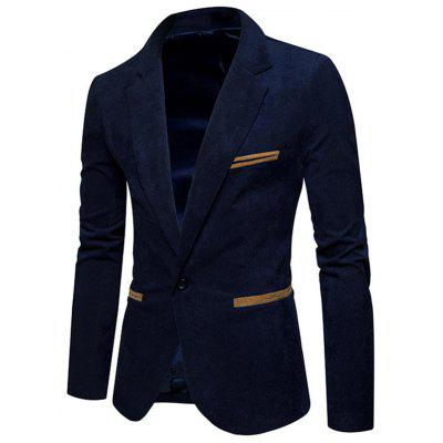 One Button Lapel Collar Corduroy BlazerMens Blazers<br>One Button Lapel Collar Corduroy Blazer<br><br>Closure Type: Single Breasted<br>Material: Cotton, Polyester<br>Package Contents: 1 x Blazer<br>Shirt Length: Regular<br>Sleeve Length: Long Sleeves<br>Weight: 0.5500kg