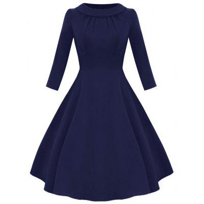 Vintage Empire Waist Fit and Flare Dress