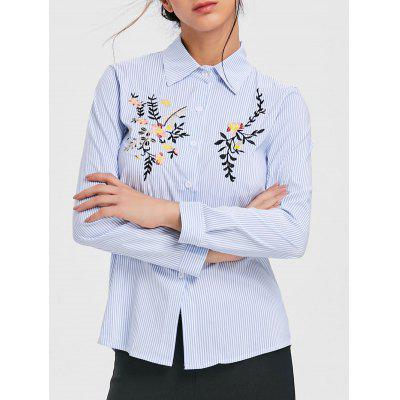 Fitted Embroidery Shirt
