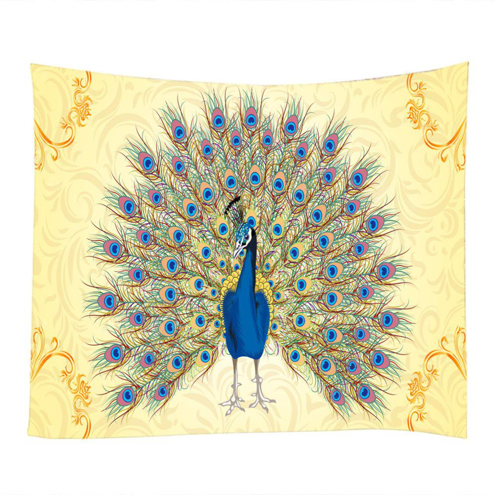 Peacock Tail Pattern Wall Decoration Tapestry