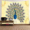 Peacock Tail Pattern Wall Decoration Tapestry - COLORMIX