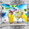 Fruit Drinks Sunshie Beach Holiday Printed Wall Decoration Tapestry - COLORMIX