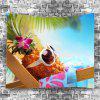 Pineapple Sunglass Beach Holiday Wall Decoration Tapestry - COLORMIX