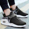 Color Blocking Breathable Sneakers - BLACK