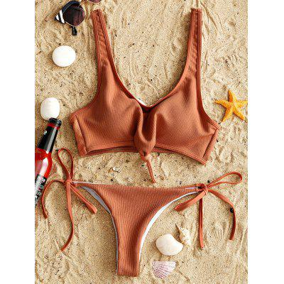 Ribbed Knot Bikini Set