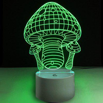 Magic Mushroom Pattern Screen Touch Night Light