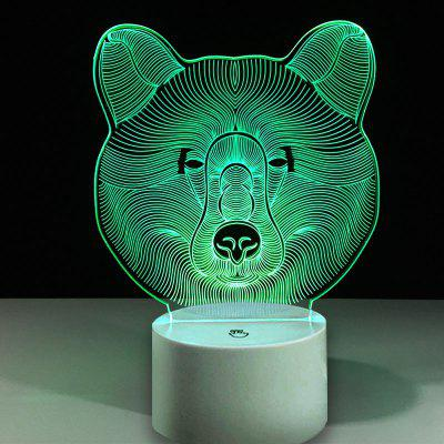 Cabeça de Bear Touch Colors Changing LED Night Light