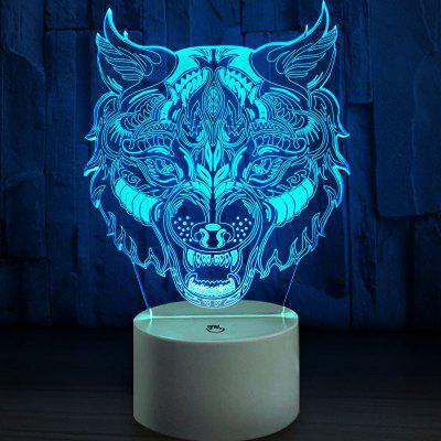 Tiger Head Touch Colors Changing LED Night Light