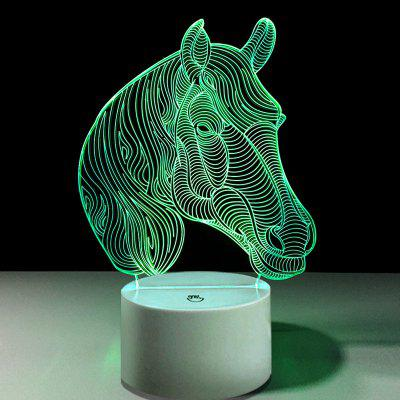 Head of Horse Touch Colors Changing LED Night Light