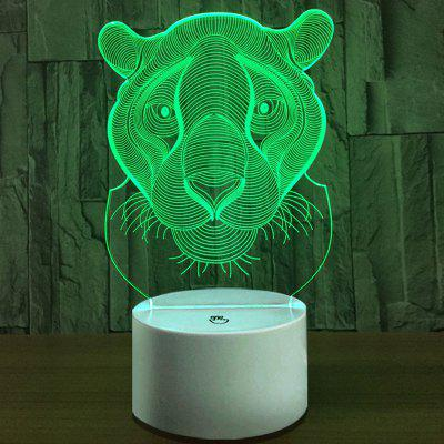 Head of Leopard Touch Colors Changing LED Night Light
