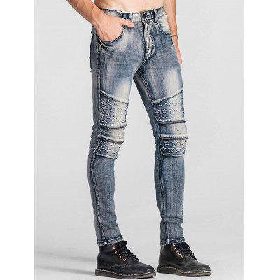 Zip Teeth Embellished Star Emboss JeansMens Pants<br>Zip Teeth Embellished Star Emboss Jeans<br><br>Closure Type: Zipper Fly<br>Fit Type: Regular<br>Material: Cotton, Spandex, Polyester<br>Package Contents: 1 x Jeans<br>Pant Length: Long Pants<br>Waist Type: Mid<br>Wash: Stonewashed<br>Weight: 0.8200kg<br>With Belt: No