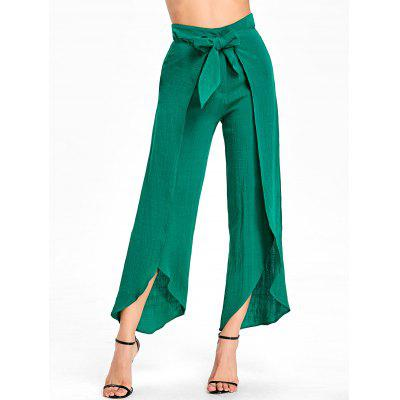 High Waisted High Slit Wrap Pants