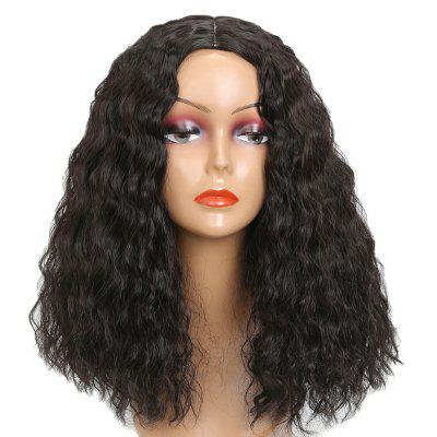 Medium Center Parting Shaggy Corn Hot Curly Synthetic Wig