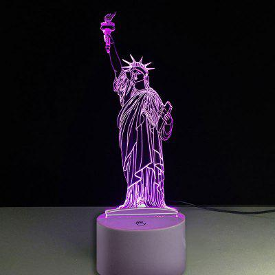Statue of Liberty Touch Colors Changing LED Night Light