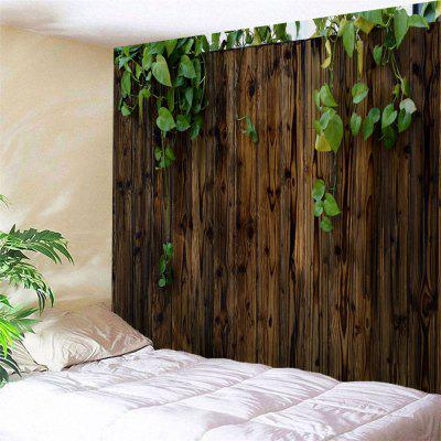 Philodendron Scandens Wooden Board Print Wall Art Tapestry