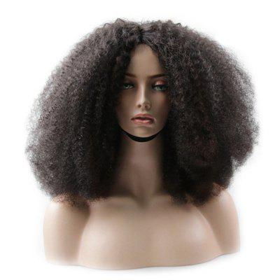 Medium Center Parting Shaggy Afro Curly Synthetic Wig
