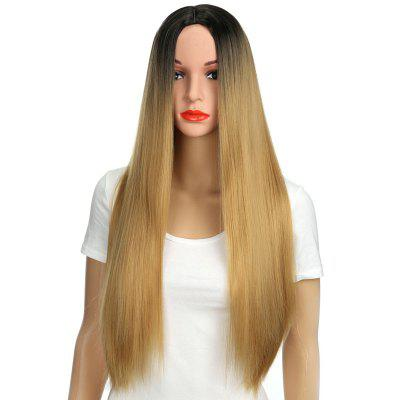 Long Center Parting Ombre Straight Party Synthetic Wig