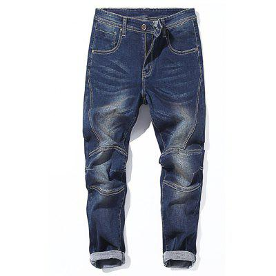 Zip Fly Taper Fit Jeans