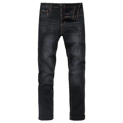 Zip Fly Straight Classic Jeans