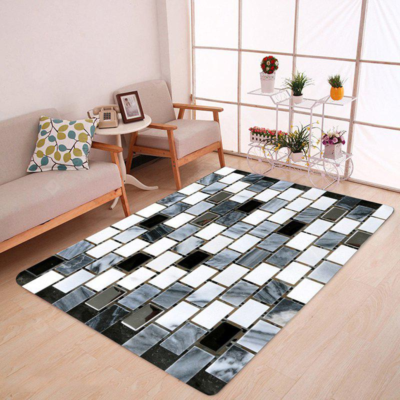 Ceramic Tile Pattern Water Absorption Area Rug