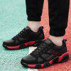 Colorblocked Breathable Sneakers - BLACK AND RED