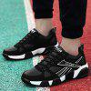 Colorblocked Breathable Sneakers - BLACK WHITE