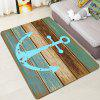 Deck Anchor Pattern Water Absorption Area Rug - CYAN