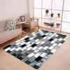 Ceramic Tile Pattern Water Absorption Area Rug - BLACK WHITE