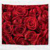 Valentines Day Roses Print Wall Art Tapestry - RED