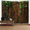 Philodendron Scandens Wooden Board Print Wall Art Tapestry - DUN