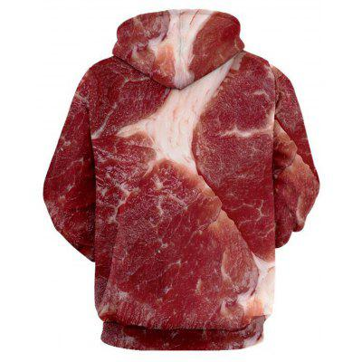 Raw Meat 3D Print HoodieMens Hoodies &amp; Sweatshirts<br>Raw Meat 3D Print Hoodie<br><br>Clothes Type: Hoodie<br>Material: Polyester<br>Occasion: Sports, Going Out, Daily Use, Club, Casual<br>Package Contents: 1 x Hoodie<br>Patterns: 3D,Print<br>Shirt Length: Regular<br>Sleeve Length: Full<br>Style: Fashion<br>Thickness: Regular<br>Weight: 0.5000kg