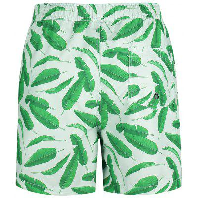 Leaf Print Swim Board ShortsMens Swimwear<br>Leaf Print Swim Board Shorts<br><br>Gender: For Men<br>Material: Polyester<br>Package Contents: 1 x Swim Trunks<br>Pattern Type: Print<br>Swimwear Type: Board Shorts<br>Weight: 0.2400kg
