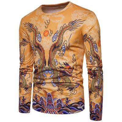 Crew Neck Chinese Style Dragons Print T-shirtMens Long Sleeves Tees<br>Crew Neck Chinese Style Dragons Print T-shirt<br><br>Collar: Crew Neck<br>Material: Cotton, Polyester<br>Package Contents: 1 x T-shirt<br>Pattern Type: Animal, Print<br>Season: Spring<br>Sleeve Length: Full<br>Style: Casual, Fashion, Vintage, Streetwear<br>Weight: 0.3000kg