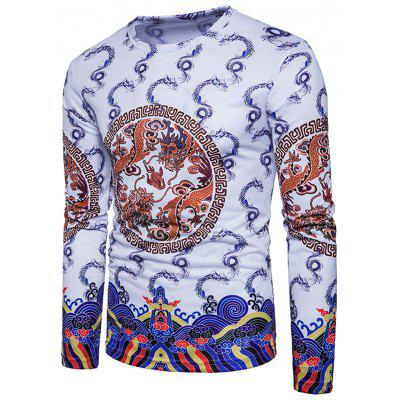 Chinese Style Geometric Dragons Print T-shirtMens Long Sleeves Tees<br>Chinese Style Geometric Dragons Print T-shirt<br><br>Collar: Crew Neck<br>Material: Cotton, Polyester<br>Package Contents: 1 x T-shirt<br>Pattern Type: Geometric, Print, Animal<br>Season: Spring<br>Sleeve Length: Full<br>Style: Casual, Streetwear, Fashion, Vintage<br>Weight: 0.3000kg