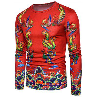 Phoenix Print Chinese Style T-shirtMens Long Sleeves Tees<br>Phoenix Print Chinese Style T-shirt<br><br>Collar: Crew Neck<br>Material: Cotton, Polyester<br>Package Contents: 1 x T-shirt<br>Pattern Type: Animal, Print<br>Season: Spring<br>Sleeve Length: Full<br>Style: Casual, Fashion, Vintage, Streetwear<br>Weight: 0.3000kg