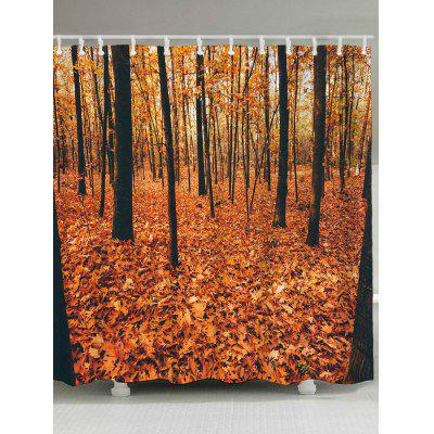 Deciduous Forest Printed Waterproof Bath Shower Curtain