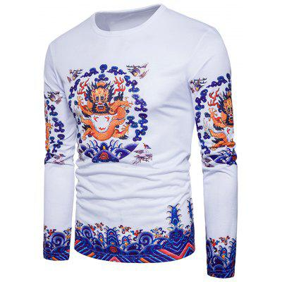 Dragon Print Long Sleeve T-shirtMens Long Sleeves Tees<br>Dragon Print Long Sleeve T-shirt<br><br>Collar: Crew Neck<br>Material: Cotton, Polyester<br>Package Contents: 1 x T-shirt<br>Pattern Type: Animal, Print<br>Season: Spring<br>Sleeve Length: Full<br>Style: Casual, Fashion, Vintage, Streetwear<br>Weight: 0.3000kg