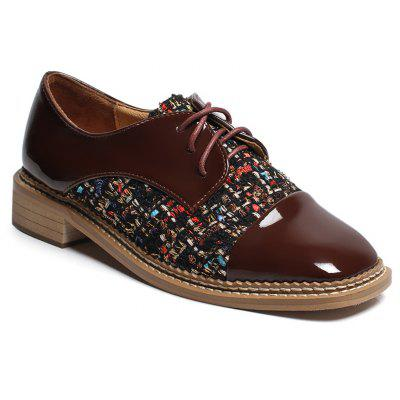 Low Heel Square Toe Casual Shoes
